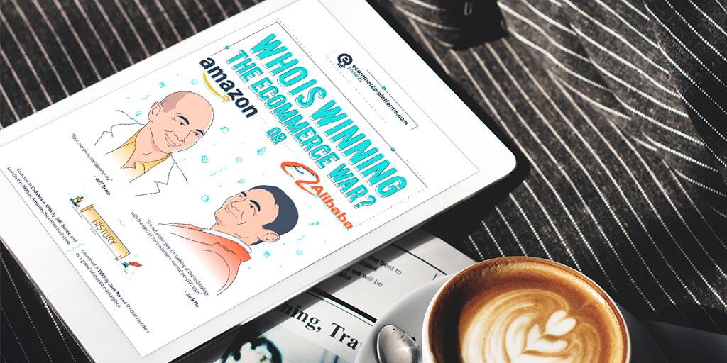 amazon alibaba ecommerce infographic