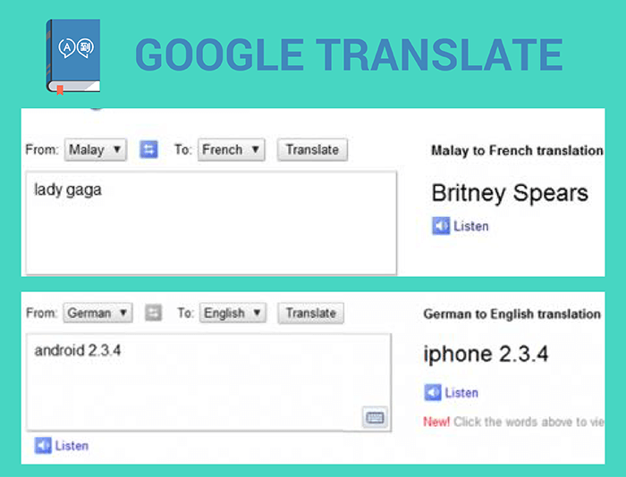 google translate funny examples
