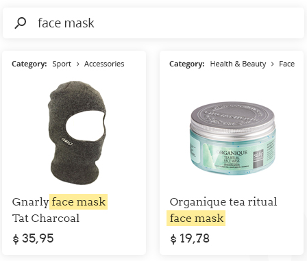 ecommerce translation face mask