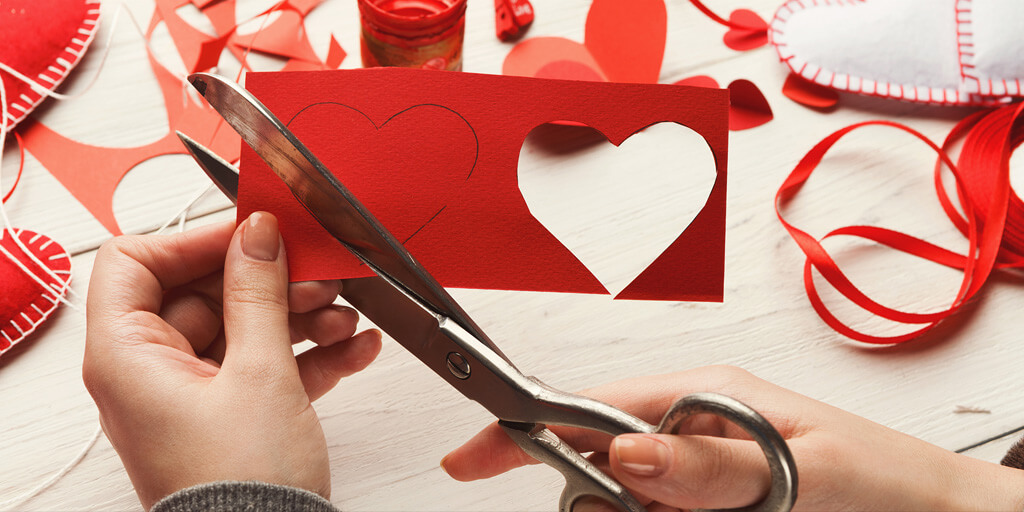 ecommerce valentine hearts