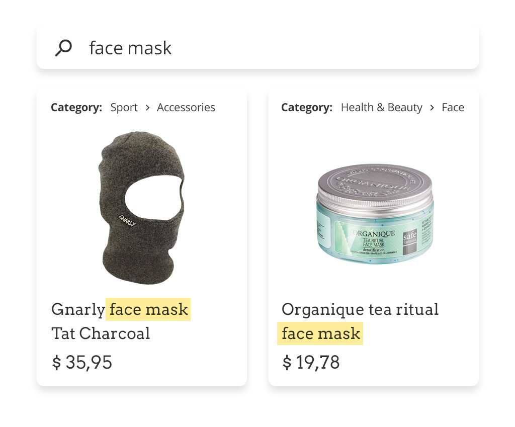 face mask ecommerce categorry mapping