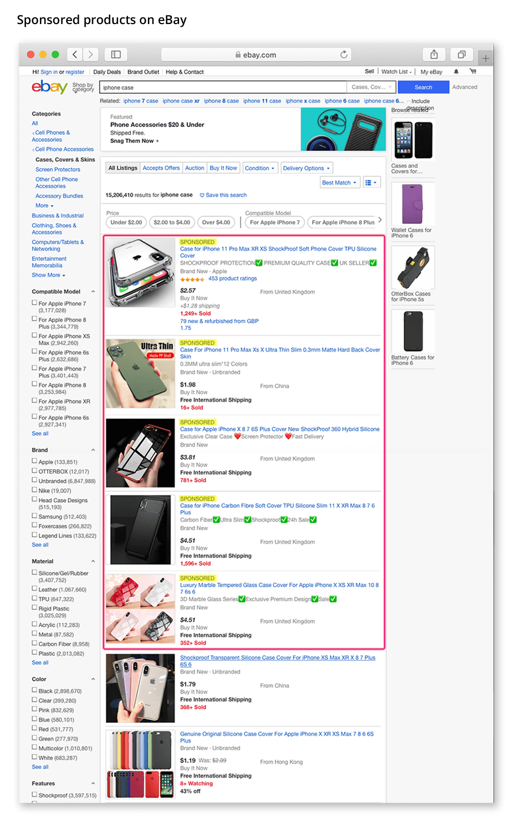 ecommerce ebay sponsored products