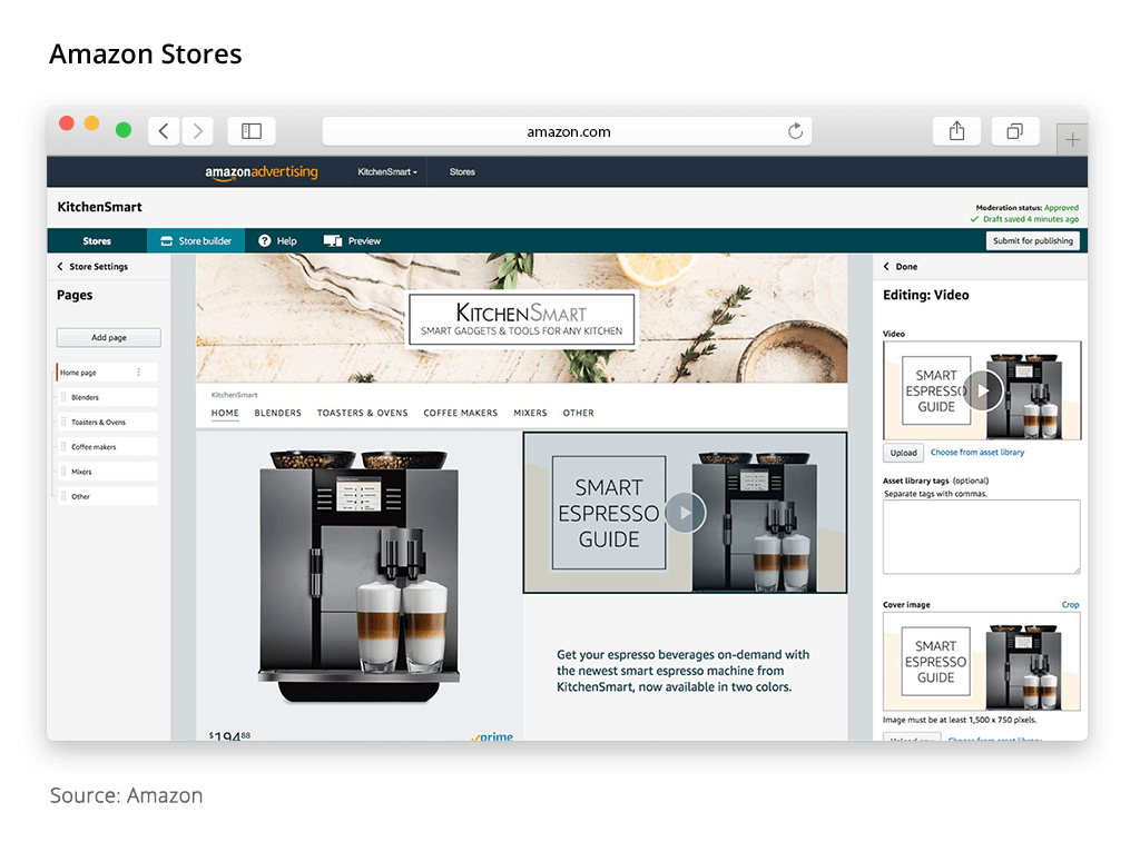 amazon advertising stores
