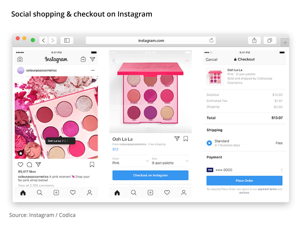 social shopping instagram checkout