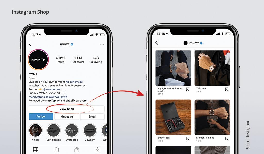 instagram shop ecommerce