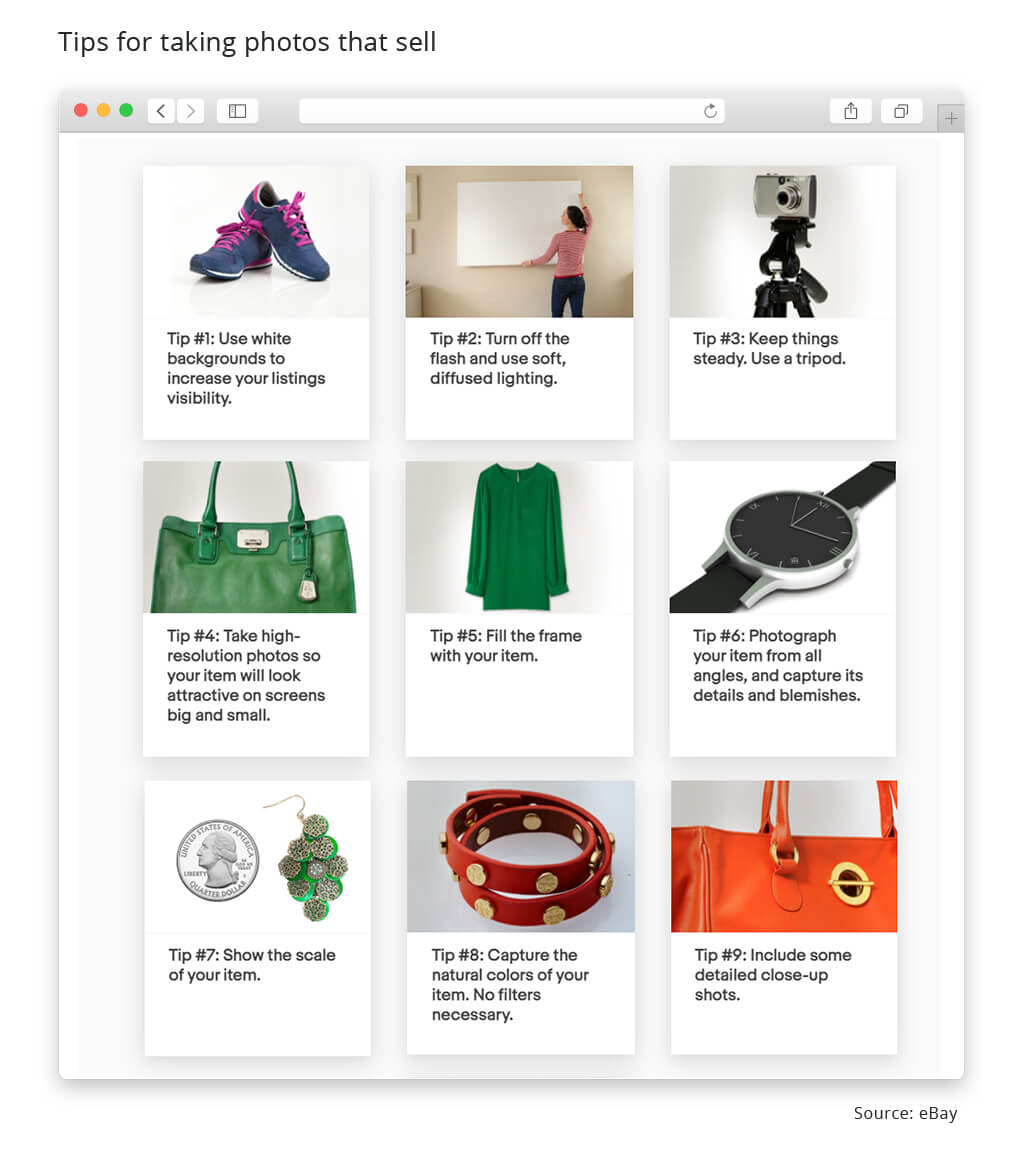 ebay tips for taking photos that sell