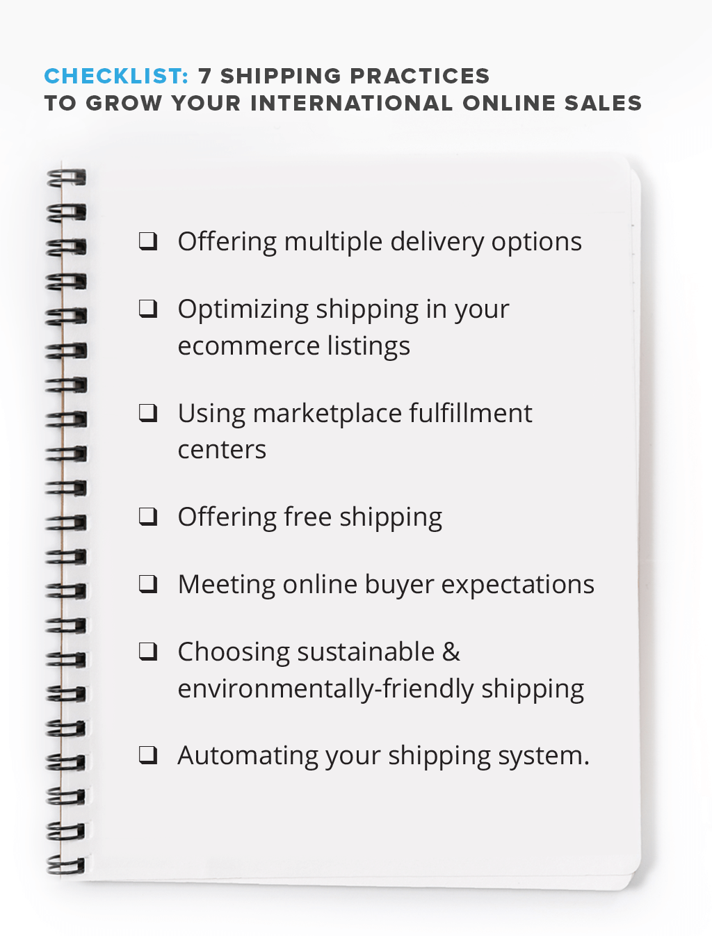 ecommerce shipping practices checklist