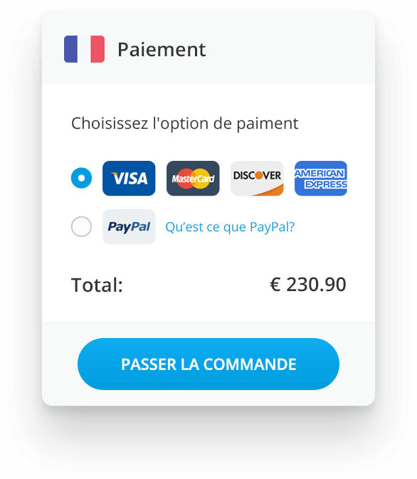 localized checkout